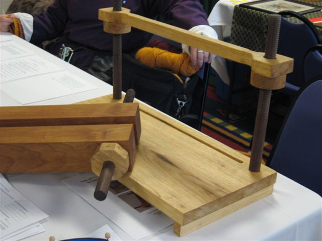 Gwilim de Glamorgan- Bookbinding press and sewing frame