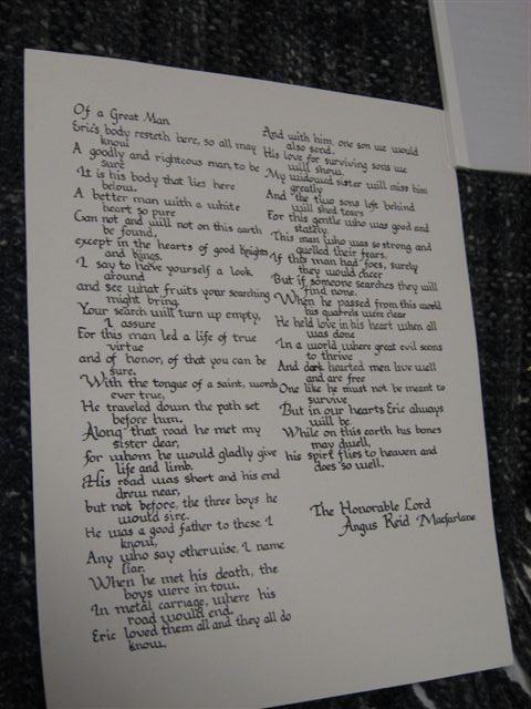 Angus Reid MacFarlane- Epitaph