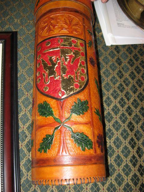 Llywus ap Alan- Leather storage case